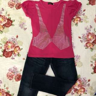 Bowtie Pink + Jeans