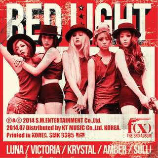 f(x) RED LIGHT A+B 版 +Poster +小卡