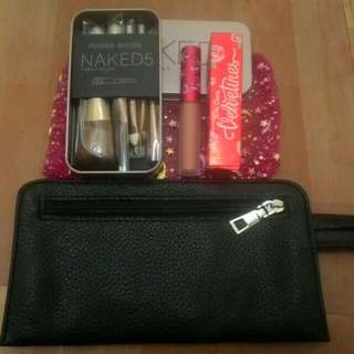 Make-up brush and lipstick
