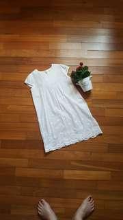 Labuel White Cotton Dress