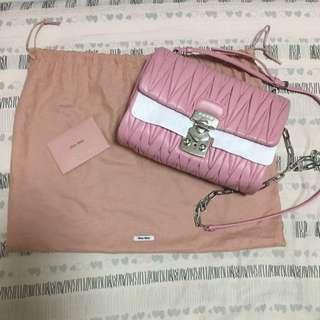 Miu Miu Matelasse Nappa Shoulder Bag 2-way 手袋 斜咩 側咩 pink