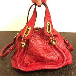 Authentic Chloe Pathon Schoolbag