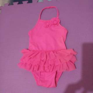 Old navy pink tutu swimsuit 12-18 months