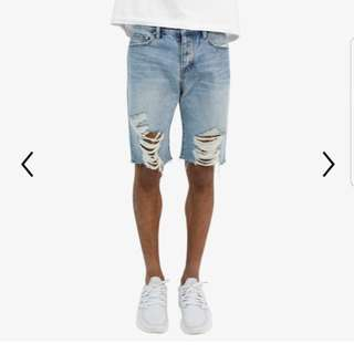 mnml R1 denim shorts