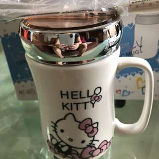Cute cartoon cup set with spoon and mirror cap (3)