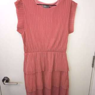 ASOS Pink Tiered Dress - Size 12