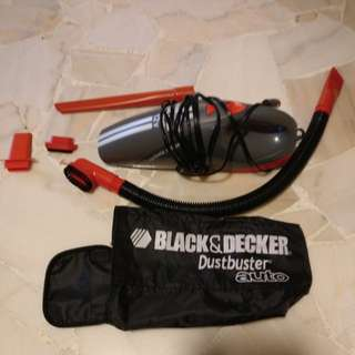 Black and decker auto dustbuster 12v
