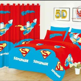 COD 5D 5 IN 1 BEDSHEET W/ CURTAIN