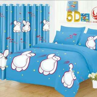 COD 5 IN 1 5D BEDSHEET W/ CURTAIN