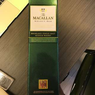 Macallan Whiskey Selected Oak (New opened**)