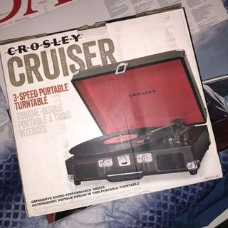 Crosley Record Player + Vinyls