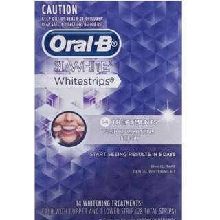 Oral B 3D White Whitening Strips