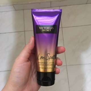 VS Love Spell fragrance lotion