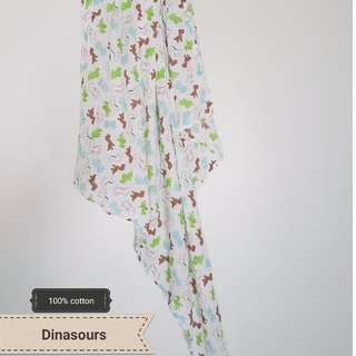 Breathable muslin swaddle blanket/ bedung selimut #15off
