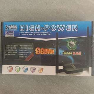 Sealed High power long range and high sensitivity clipper B / G / N USB adapter