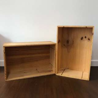 [Wedding décor for rent] Wooden crates $30