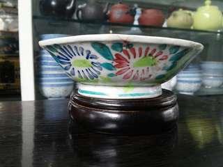 民國花卉紋碗
