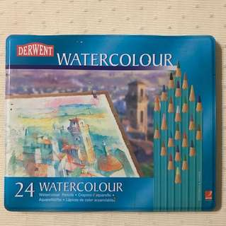 Derwent Watercolour Pencils Tin - 24 colours