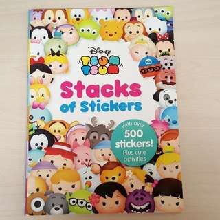 Disney Tsum Tsum Stacks of Stickers Children Activity Book with more than 500 Stickers