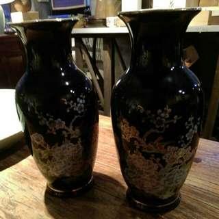 日本花瓶一對