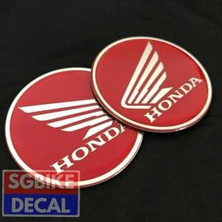 Red Honda Wing Emblem