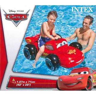 (Free Delivery) Disney Pixar Cars Lightning Mcqueen Ride On Inflatable Swimming Float