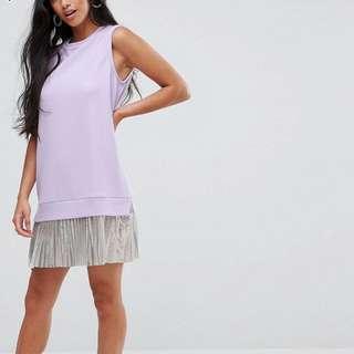 ASOS petite sleeveless crepe mini dress