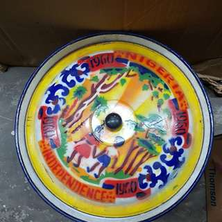 Enamel Tin Bowl/Container with lid
