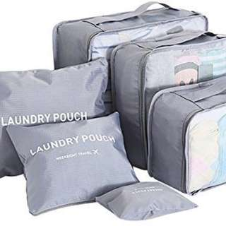 Organizer Packing Bag With Laundry Pouch 6 pieces