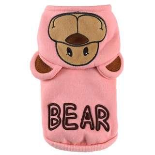 88雜貨鋪 寵物衣服 秋冬新款純棉奧利奧小熊連帽兩腳衣 貓狗衣服 馬爾濟斯/貴賓/吉娃娃