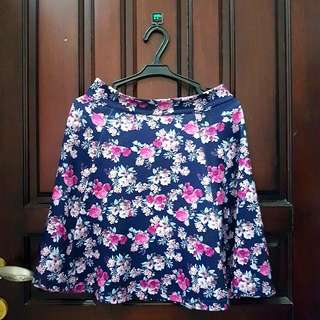 SALE 50% Stradivarius Flower Skirt