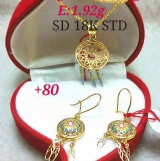 Dream catcher gold set