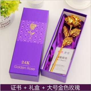 [Pre-Order] Valentine's Day Everlasting Golden Rose For Love and Passion