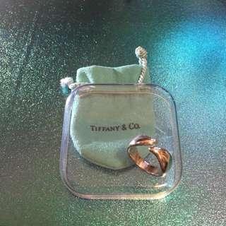 Tiffany 經典 925 銀戒指(8成新)約港度 12 號圈
