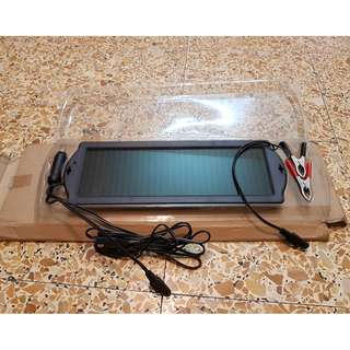 Solar Powered Car Auto Boat Motorcycle 12V Battery