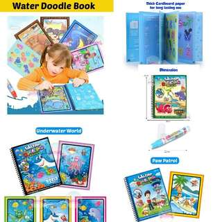 Water Doodle Colouring book