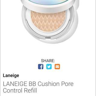 Laneige BB Cushion Pore Control No.21 Beige Refill
