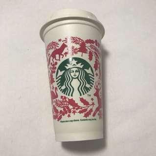 Starbucks Christmas 2017 Reusable Cup and Lid