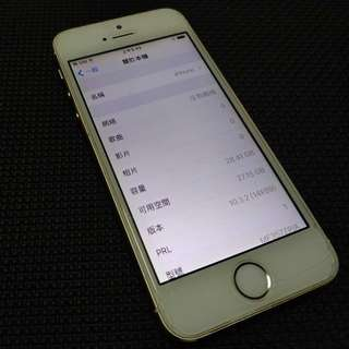 iPhone 5s 32GB 金色 二手