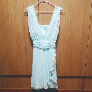 韓版 希臘女神款 雪紡紗小洋裝