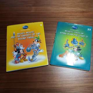 Disney Literature Classic - Mickey Mouse and the Knights of The Round Table & Mickey's Tales of Edgar Allan Poe