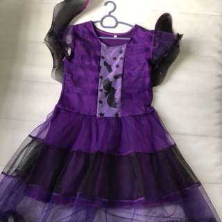 Halloween Bats Lady Dress with Wings