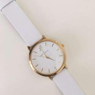 John Taylor white & gold watch