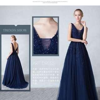 高貴寶藍色晚裝