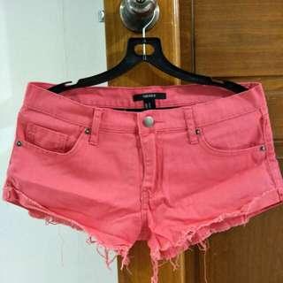 Forever21 fuchsia denim shorts