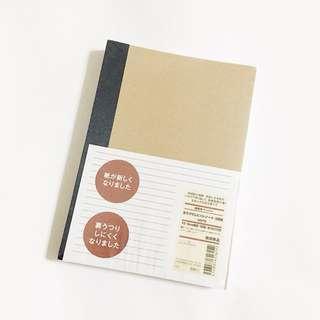 bnip MUJI A5 set of 5 kraft notebooks