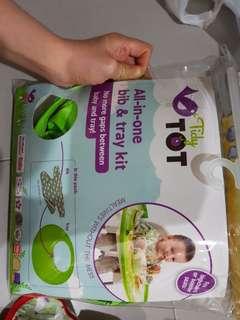 TidyTot feeding bib and tray