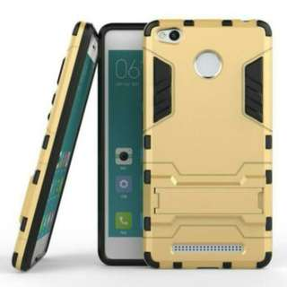 Case Xiaomi Redmi 3 Pro Ironman (Armor Shield) Series With Stand Mode