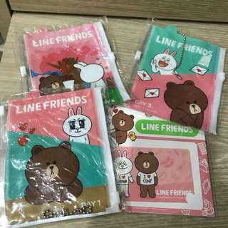 🚚 LINE FRIENDS 小收納袋&卡貼