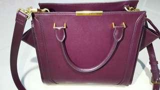 Charles & Keith Bag, Maroon colour